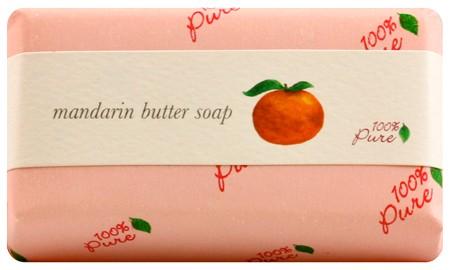 100% Pure Mandarin Butter Soap 4.5oz