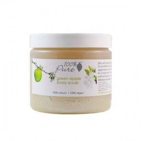 100% Pure Green Apple Body Scrub 15oz