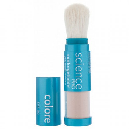 Colorescience Sunforgettable Mineral Powder Sun Protection SPF 30 Brush- 0.23oz (Perfectly Clear - Medium - Matte)