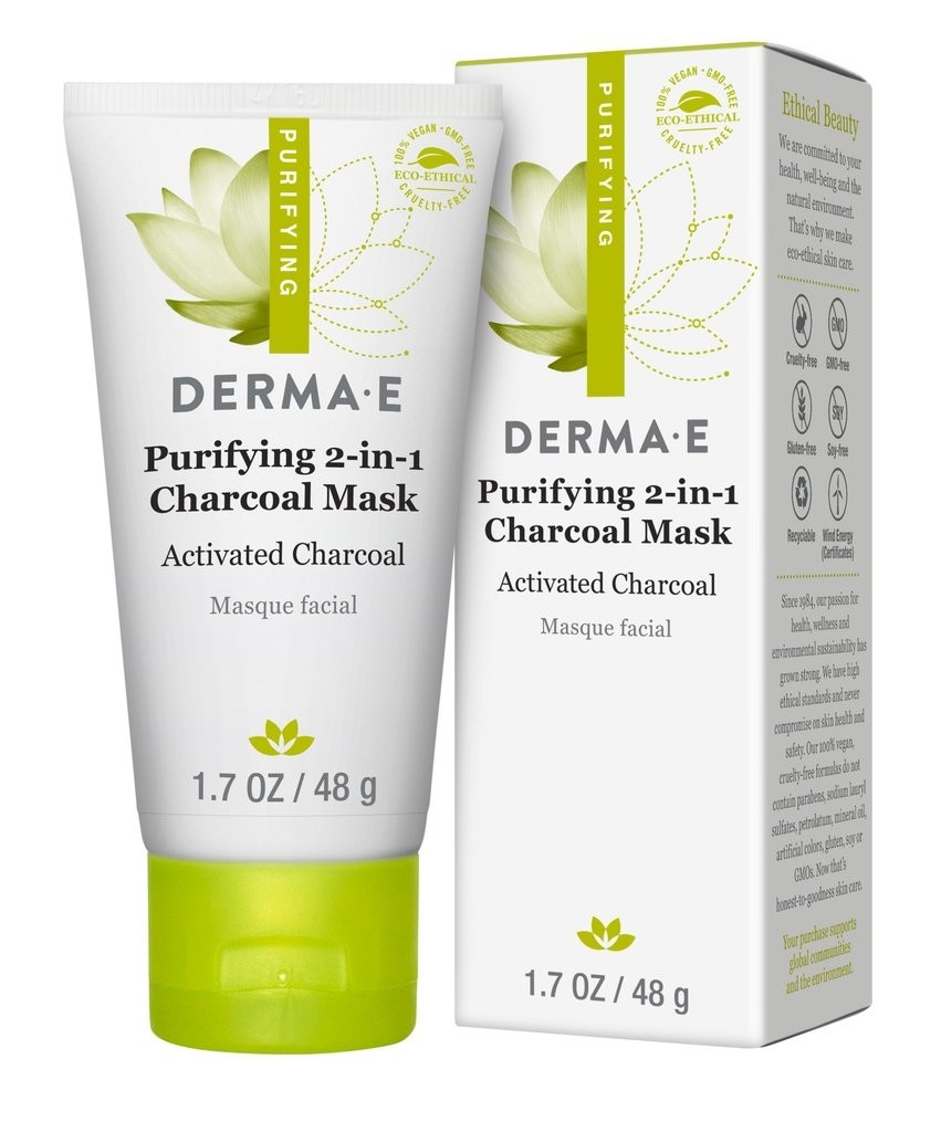 Derma E Purifying 2-in-1 Charcoal Mask 1.7oz