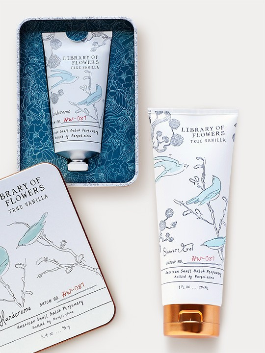 Library Of Flowers True Vanilla Gift Duo: Shower Gel & Hand Cream