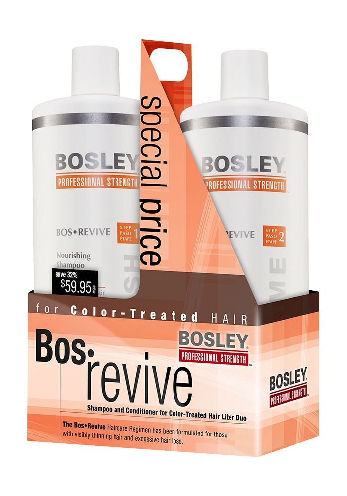 Bosley Pro BosRevive for Color-Treated Hair Liter Duo
