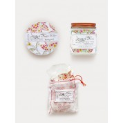 Library Of Flowers Honeycomb Gift Trio: Candle, Milk Bath & Parfum Crema