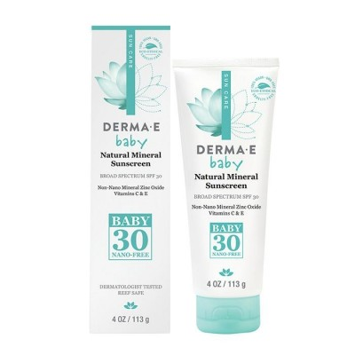 Derma E Natural Mineral Sunscreen SPF 30 for Baby 4oz