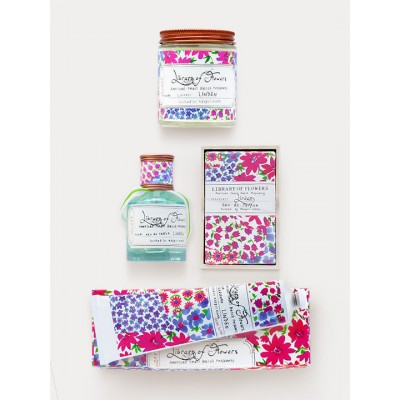 Library Of Flowers Linden Gift Trio: Perfume, Hand Cream & Candle