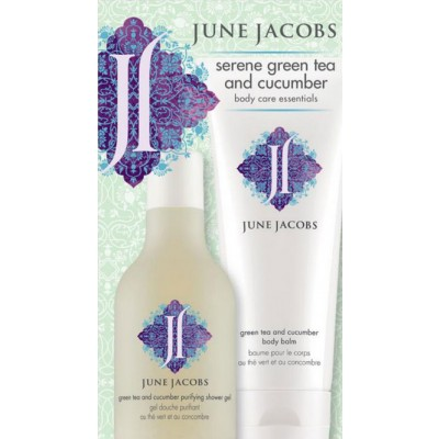 June Jacobs Serene Green Tea and Cucumber Body Care Essential Kit 6.7 fl.oz.