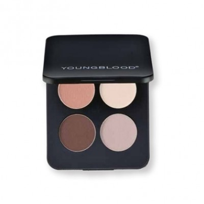 Youngblood Pressed Mineral Matte Eyeshadow Quad in City Chic