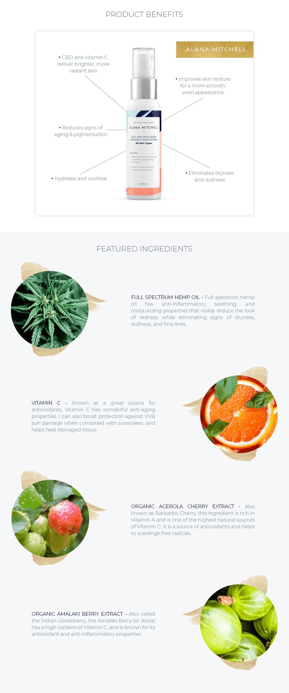 alana mitchell full spectrum hemp vitamin c moisturizer