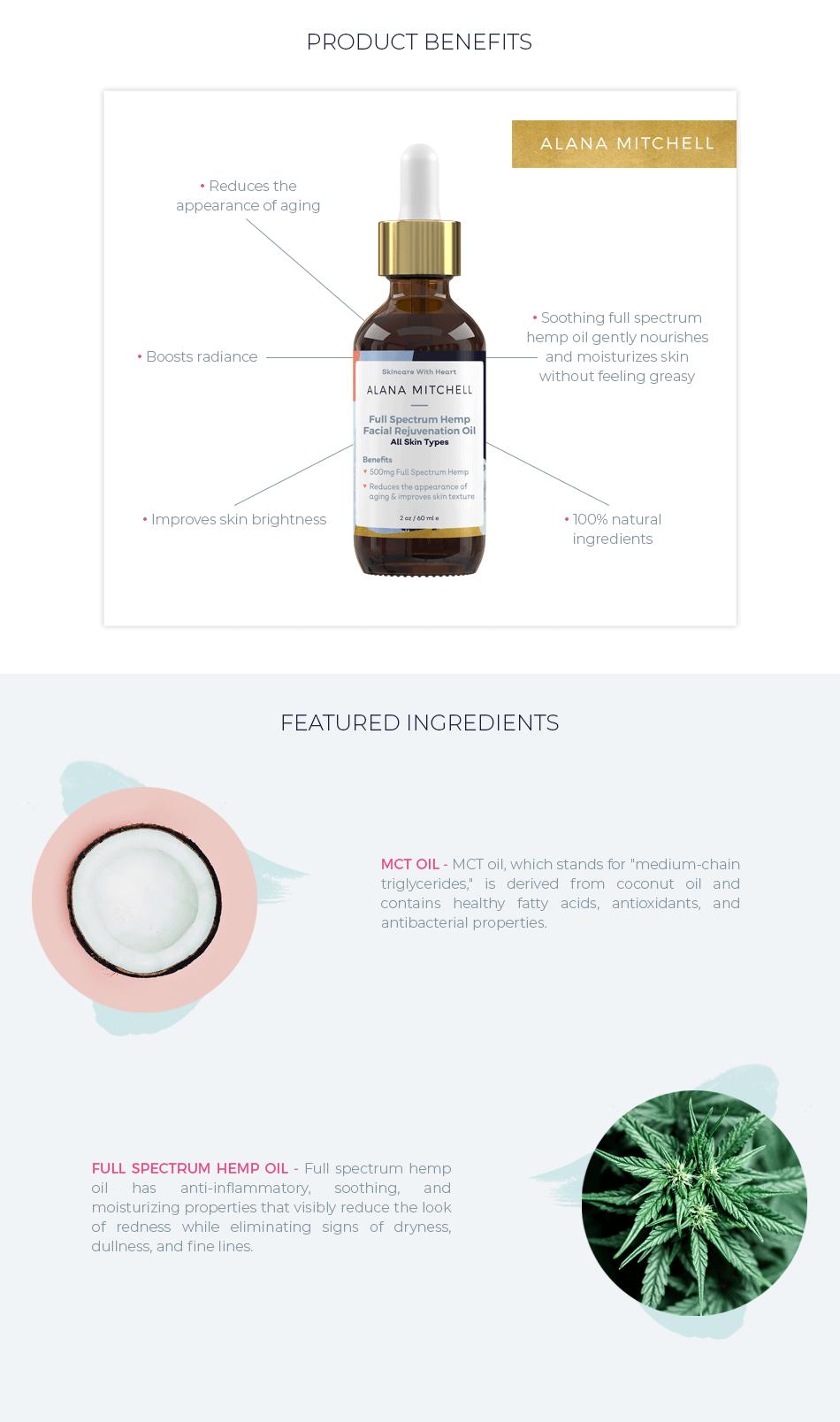 alana mitchell full spectrum hemp facial oil